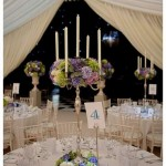 Blue and ivory wedding flowers, flowers for marquees, October weddings,