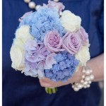 Navy bridesmaids, Chic bridesmaids bouquets, Blue hydrangea bridesamaids flowers, Hydrangea and rose bouquet, Rebecca Honeywell photography,